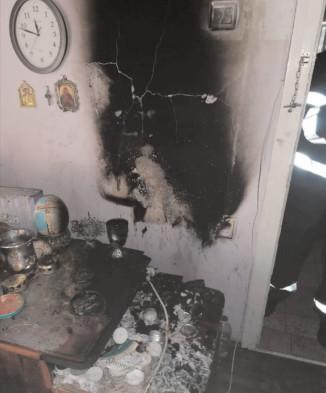 Incendiu în dormitorul unui apartament din Târgovişte