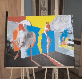 """""""MOMENT"""" -Expoziţie de pictură semnată de doi artişti aflaţi la început de carieră"""
