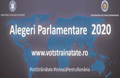 Informarea alegătorilor români pe tema exercitării dreptului de vot prin corespondenţă, precum şi privind măsurile de protecţie sanitară pe durata campaniei electorale