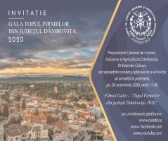 Topul Firmelor Dâmboviţene – eveniment organizat cu respectarea constrângerilor specifice stării de alertă