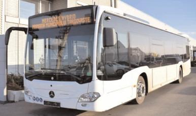 A ajuns la Târgovişte primul autobuz Mercedes-Benz Citaro Hybrid din flota care va deservi transportul public municipal