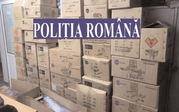 500 de kilograme de articole pirotehnice, indisponibilizate de poliţiştii dâmboviţeni