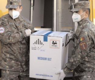 A opta tranşă de vaccin Pfizer BioNTech a sosit în ţară