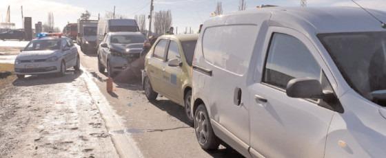 Asigurare de zonă la un accident rutier produs pe DN 71, în localitatea Aninoasa