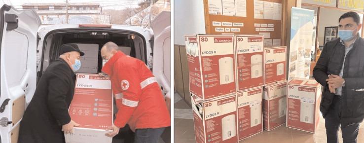 Crucea Roşie Dâmboviţa, cu sprijinul Ariston Thermo România, a dotat Şcoala Gimnazială nr. 1 Moreni, cu şapte boilere pentru apă caldă