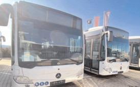 Primele zece autobuze care vor deservi transportul târgoviştean sunt pregătite pentru livrare