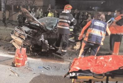 Accident grav la Bâldana,coliziune