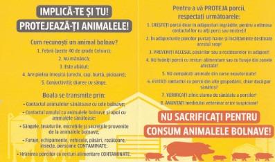 Campanie de informare -Prevenirea răspândirii virusului Pestei Porcine Africane