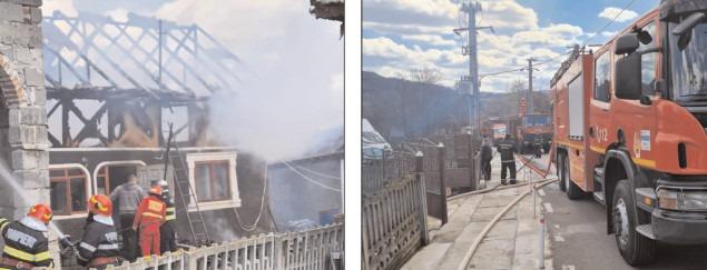Gospodărie cuprinsă de flăcări în comuna Moţăieni