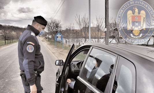Jandarmii veghează la respectarea măsurilor impuse pe timpul stării de alertă