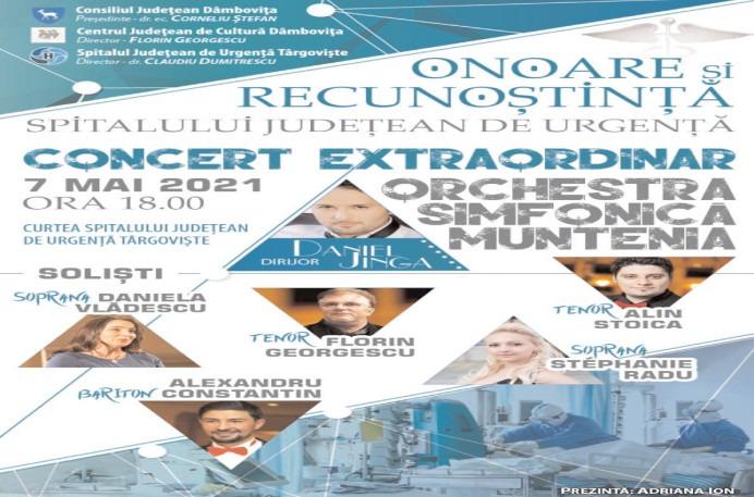 Concert extraordinar dedicat personalului medical din prima linie