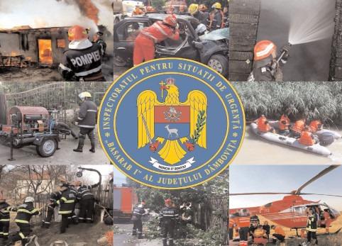 Pompierii dâmboviţeni au avut 70 de intervenţii, în ultima săptămână