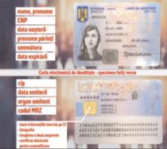 Detalii privind conţinutul electronic al noilor cărţi de identitate