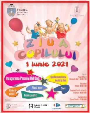 Programul pregătit de Primăria Târgovişte pentru Ziua Copilului. Festivalul AnimaŢie – 1 iunie 2021