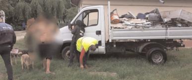 Amendă pentru că a aruncat gunoaie ilegal, iar maşina folosită a fost confiscată