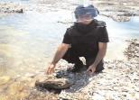 Proiectil exploziv, găsit pe malul râului Ialomiţa