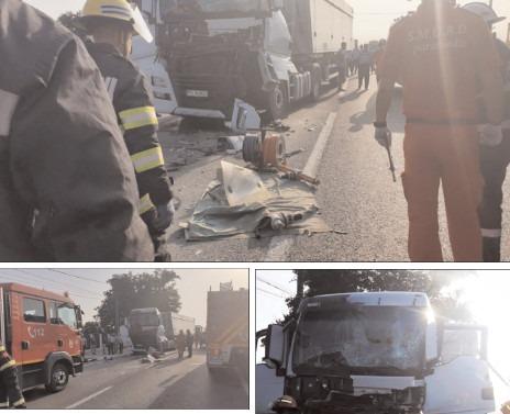 Accident pe DN 72, au fost implicate două tiruri