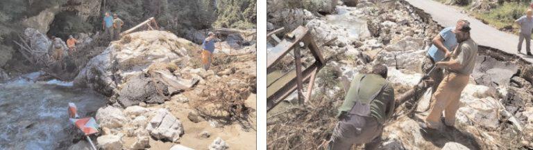 CJ Dâmbovița a demarat acțiunile pentru curățarea albiei râului Ialomița de materialul lemnos și resturi de asfalt, zona afectată de viitură