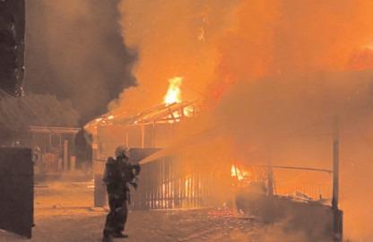 Incendiu violent în comuna Odobești