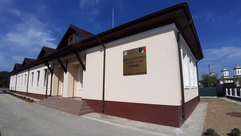 A fost inaugurată o școală ultramodernă în satul Căprioru din comuna Tătărani